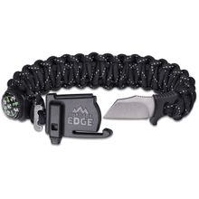 Outdoor Edge ParaSpark Paracord Suvival Bracelet, Large Black