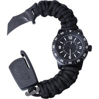 Outdoor Edge Para-Claw CQD Watch, Medium, Stainless Steel, Black
