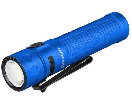 Olight Baton Pro Rechargeable LED Flashlight, Blue, 2000 Max Lumens