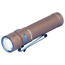 Olight Baton Pro Rechargeable LED Flashlight, Desert Tan, 2000 Max Lumens