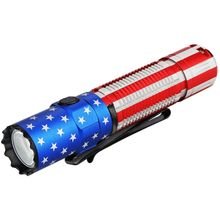 Olight M2R Pro Warrior Rechargeable LED Tactical Flashlight, Patriotic Edition, 1800 Max Lumens (1 x 21700)