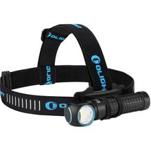 Olight Perun Kit Black Right-Angle Rechargeable LED Flashlight with Headlamp Headband Included, 2000 Max Lumens (1 x 18650)