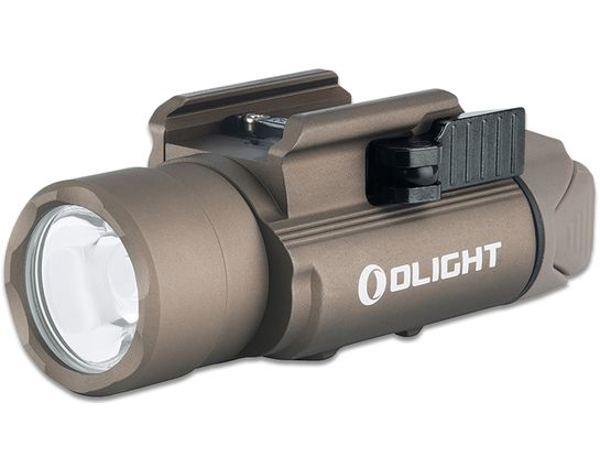 Olight PL-PRO Valkyrie Compact LED Weaponlight, 1500 Max Lumens, Desert Tan