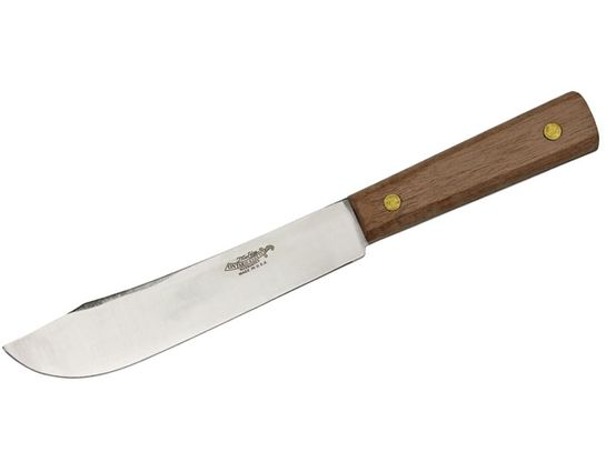 Ontario Old Hickory Hop Field Knife 7 inch Blade, Hickory Handles