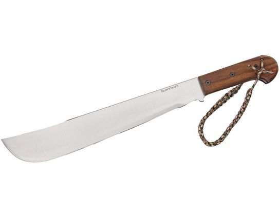 Ontario Bushcraft Machete 16 inch 5160 Carbon Blade, Walnut Wood Handle, Nylon Sheath