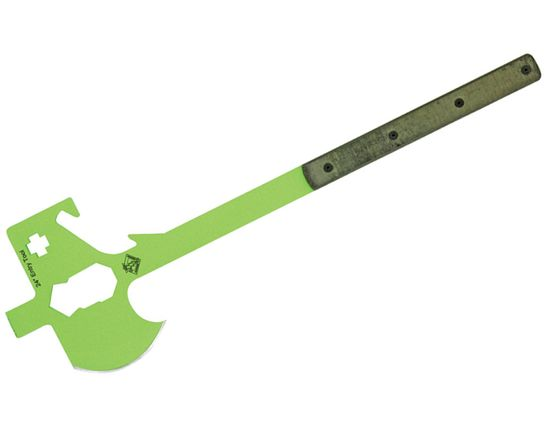 Ontario Ranger Rescue Entry Tool 25.5 inch, Safety Green, OD Green Micarta Handles, No Sheath