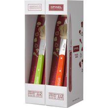 Opinel 12-Piece N0112 Paring Knife Set, 3.875 inch Sandvik 12C27 Plain Blades, Multi-Color Beechwood Handles