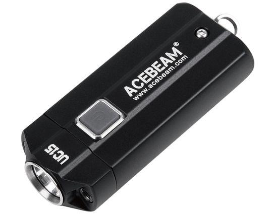 AceBeam UC15 Mini Keychain LED Light, Black, 1000 Max Lumens