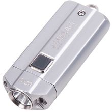 AceBeam UC15 Mini Keychain LED Light, Silver, 1000 Max Lumens