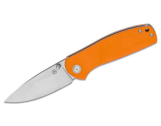 Alliance Designs Signature Series Ray Laconico OG Jasmine Folding Knife 3.125 inch M390 Drop Point Blade, Orange G10 Handles