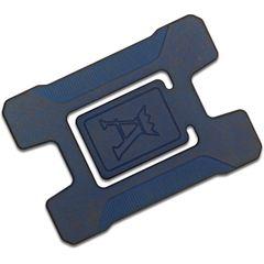 Jens Anso Custom Matrix Cobalt Blue Titanium Credit Card Holder