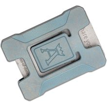 Jens Anso Custom Matrix Teal Titanium Credit Card Holder