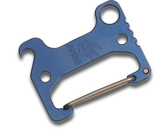 Jens Anso Custom Titanium Carabiner V.4, Blue Anodized