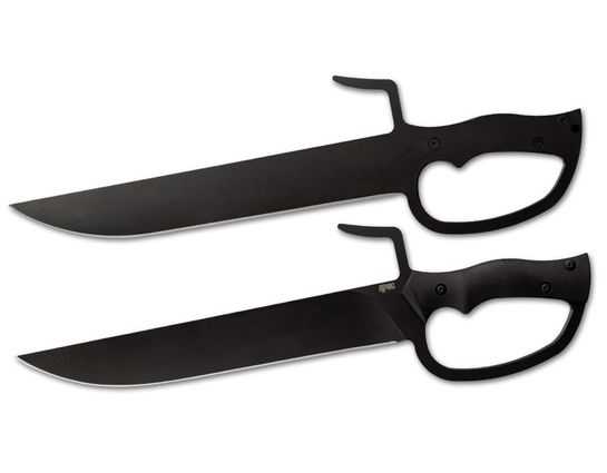 APOC Survival Tools Twin Butterfly Swords 10.625 inch Black Blades, Black G10 Handles, MOLLE Compatible Kydex Sheath
