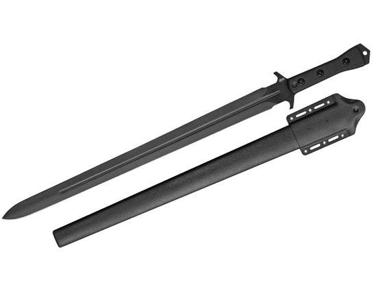 APOC Survival Tools Tactical Broad Sword 21.63 inch Blade, Black G10 Handles, Kydex Sheath