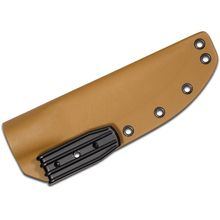 Armory Plastics Do-It-Yourself Tan Rounded Kydex Sheath Only, Fits 3-4 inch Blades