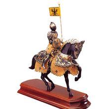 Armaduras Black Knight Miniature On Horseback