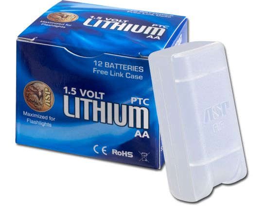 ASP AA Lithium Batteries, 12 Pack with Link Case