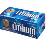 ASP AAA Lithium Batteries, 50 Pack