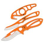 Buck PakLite Series (Hunter Orange Cerakote) Field Master Combo - Includes Skinner, Caper and Guthook, Black Nylon Sheath