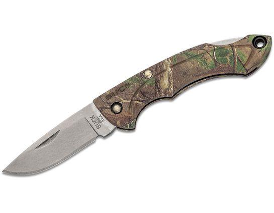 Buck 283 Nano Bantam Folding Knife 1.875 inch Drop Point Blade, RealTree Xtra Green GRN Handles