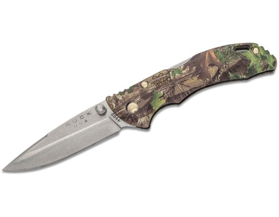 Buck 284 Bantam BBW Folding Knife 2.75 inch Drop Point Blade, RealTree Xtra Green GRN Handles