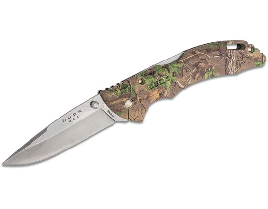 Buck 286 Bantam BHW Folding Knife 3.625 inch Drop Point Blade, RealTree Xtra Green GRN Handles