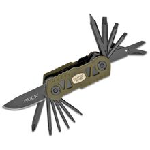 Buck VPACK738 Value Pack Bow TRX Multi-Tool 3.125 inch Closed, Green G10 Handles, Broadhead Wrench, Polyester Sheath