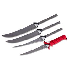 Bubba Blade Multi-Flex Interchangable Fillet Knife Set, Red TPR Handle, Red EVA Storage Case