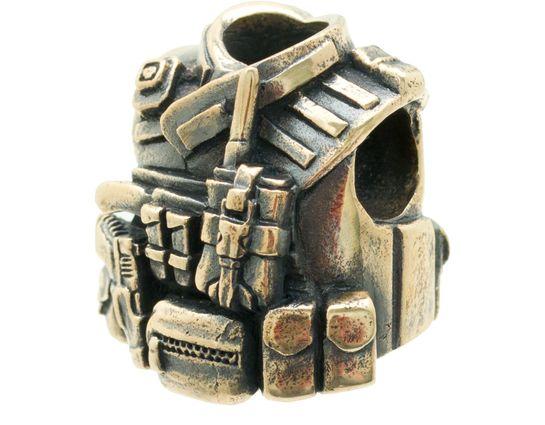 Bastinelli Creations Assault Bead, Bronze