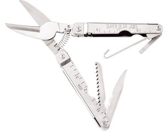 Bear & Son 4 1/2 inch Bear Jaws Sportsman Bird Shears Multi-Tool, Nylon Sheath