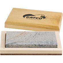 GATCO 4 inch 100% Natural Soft Arkansas Sharpening Stone, Wooden Storage Case