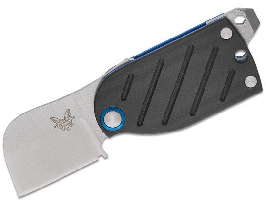 Benchmade Famin/Demongivert Aller Friction Folding Knife 1.6 inch S30V Satin Plain Blade, Black G10 Handles