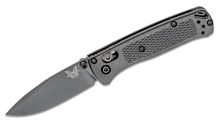 Benchmade Mini Bugout CF-Elite AXIS Folding Knife 2.82 inch S30V Black DLC Plain Blade, Graphite Black CF-Elite Handles