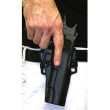 BLACKHAWK! CF Holster w/BL & Paddle, Serpa, RH, Black, Fits Glock 20/21