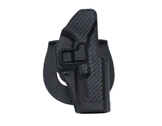 BLACKHAWK! CF Holster w/BL & Paddle, Serpa, RH, Black, Fits Glock 17/22