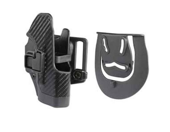 BLACKHAWK! CF Holster w/BL & Paddle Serpa, RH, Fits Glock 26/27/33