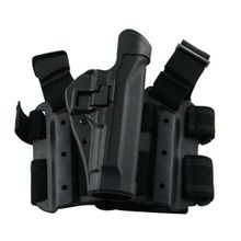 BLACKHAWK! Tactical Serpa Thigh Holster, RH, Black, Ber 92/96