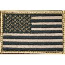 BLACKHAWK! American Flag Patch w/Velcro, Tan/Black