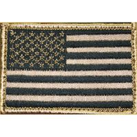 BLACKHAWK! American Flag Patch w/Velcro, Tan/Black