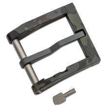 Blackside Customs Modular 1.5 inch Aluminum Belt Buckle with Cuff Key, Black Multi-Cam