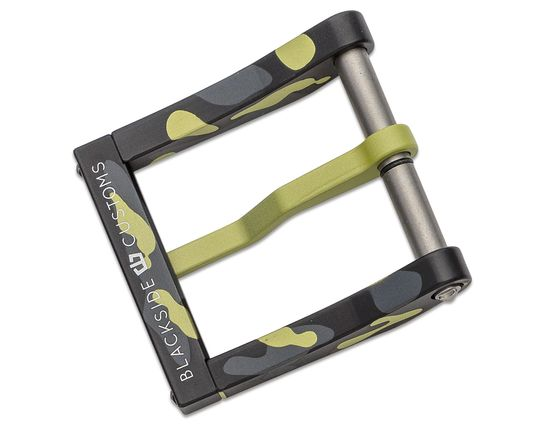 Blackside Customs Modular 1.5 inch Aluminum Belt Buckle, Mojito Camo