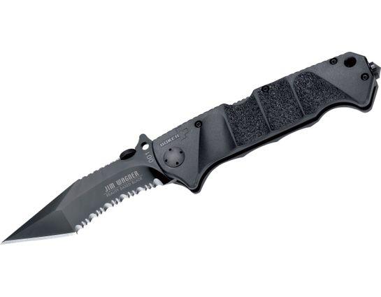 Boker Plus RBB Reality-Based Blade Folding Knife 3-7/8 inch Combo Tanto Blade, FRN Handles