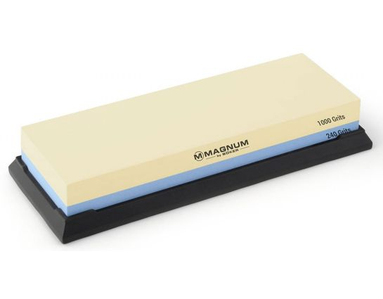 Boker Magnum Double Sided White Corundum Whetstone, 240/1000 Grits