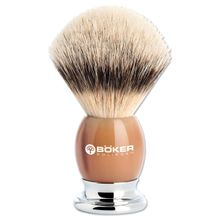 Boker Premium Horn Badger Shaving Brush, Real Horn Handle
