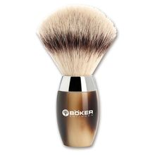 Boker Modern Horn Shaving Brush, Synthetic Horn Handle