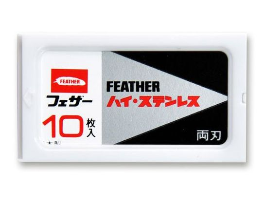 Boker Feather Double Edge Replacement Safety Razor Blades, 10 Pack