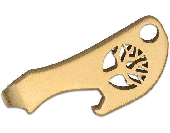 Boker Bottleneck Stainless Steel Keychain Tool Bottle Opener, Brass
