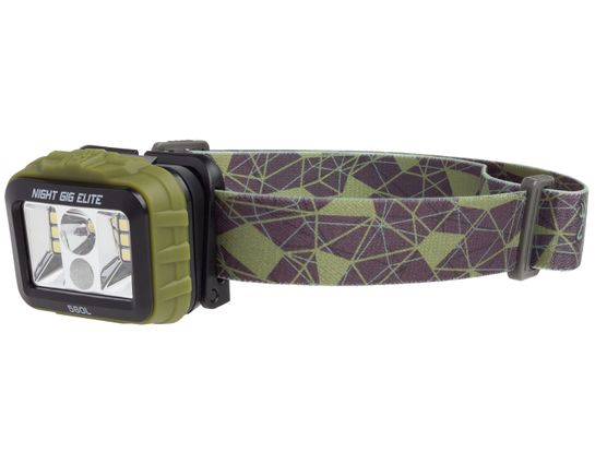 Browning Night Gig Elite Rechargeable LED Headlamp, Green Polymer Body with Camo Strap, 560 Max Lumens