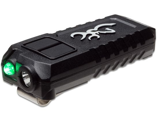 Browning Trailmate USB Rechargeable LED Flashlight/Cap Light, Black Polymer Body, 360 Max Lumens